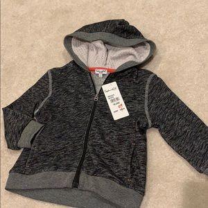 Grey hooded zip up